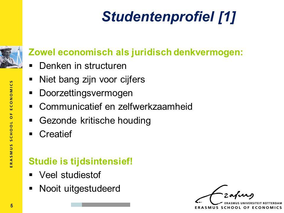 Studentenprofiel [1] Zowel economisch als juridisch denkvermogen: